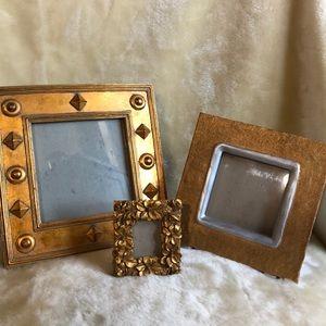 Three Piece Gold Frame Set